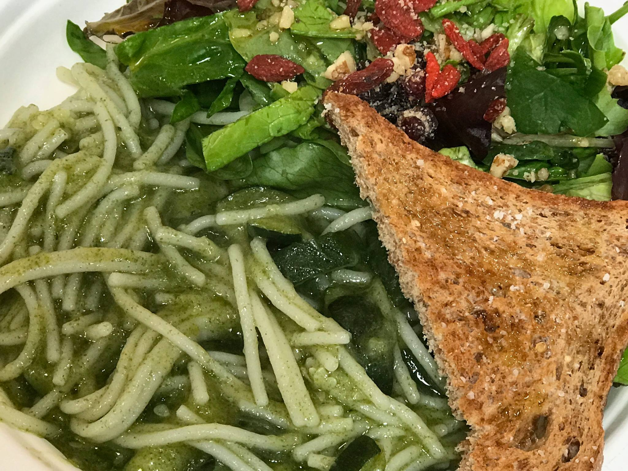 West Texas RX Basil and Zucchini Spaghetti
